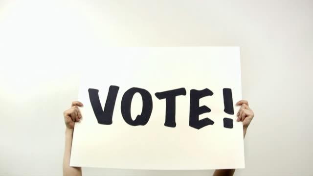 vote (hd) - western script stock videos & royalty-free footage