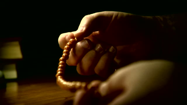 muslim prayer / paternoster - prayer beads stock videos & royalty-free footage