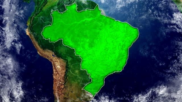 vídeos de stock, filmes e b-roll de mapa do brasil - mapa
