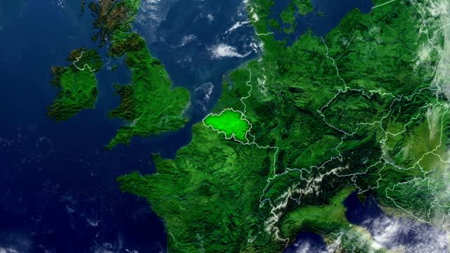 ベルギー地図 - ベルギー点の映像素材/bロール