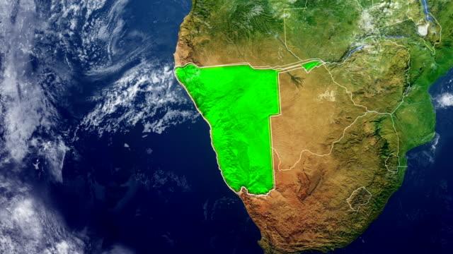 vídeos y material grabado en eventos de stock de mapa de namibia - namibia