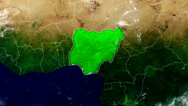 nigeria map - nigeria stock videos and b-roll footage