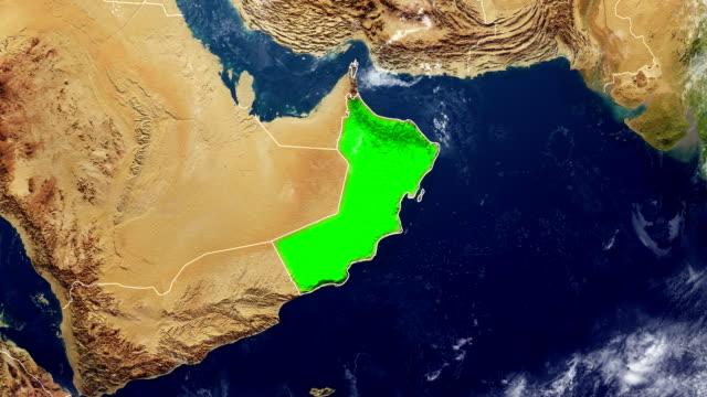 vídeos y material grabado en eventos de stock de mapa de omán - omán