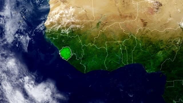 sierra leone map - sierra leone stock videos & royalty-free footage