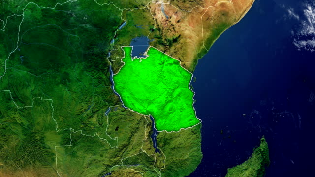 tanzania map - tanzania stock videos & royalty-free footage