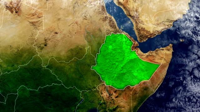 ethiopia map - ethiopia stock videos & royalty-free footage