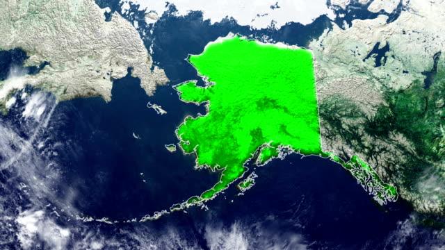アラスカ州の地図 - アラスカ点の映像素材/bロール