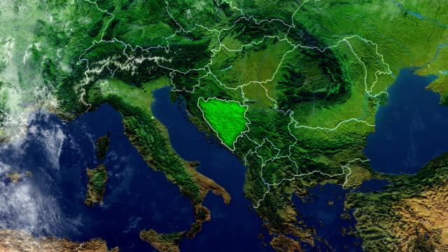 bosnia and herzegovina map - bosnia and hercegovina stock videos & royalty-free footage