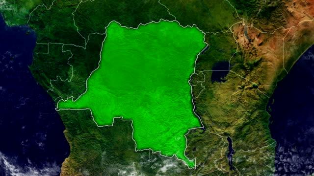 congo democratic republic map - democratic republic of the congo stock videos & royalty-free footage