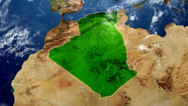 algeria map - map stock videos & royalty-free footage
