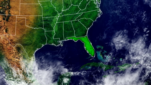 21 Florida Satellite Map Video Clips & Footage - Getty Images on dunnellon fl on map of florida, computer map of florida, flood map of florida, google maps florida, live satellite map florida, traffic map of florida, telephone map of florida, map map of florida, view of tampa florida, marine map of florida, live radar weather map florida, full large map of florida, ups map florida, transportation of florida, detailed map of florida, hd map of florida, aerial of florida, drought map of florida, digital map of florida, satellite view of orlando,