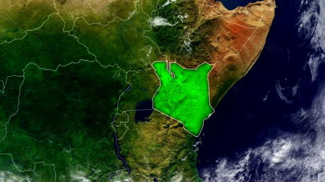 kenia karte - kenia stock-videos und b-roll-filmmaterial