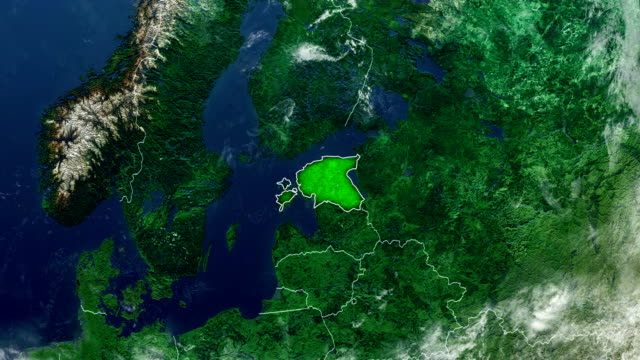 estonia map - baltic countries stock videos and b-roll footage
