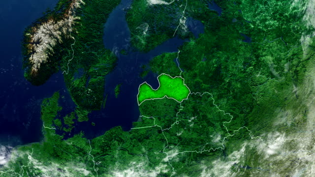 latvia map - baltic countries stock videos and b-roll footage