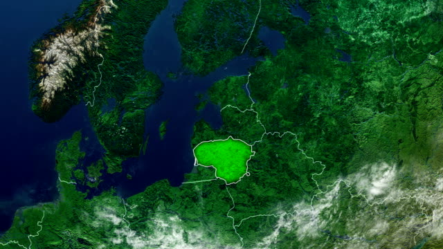 lithuania map - lithuania stock videos and b-roll footage