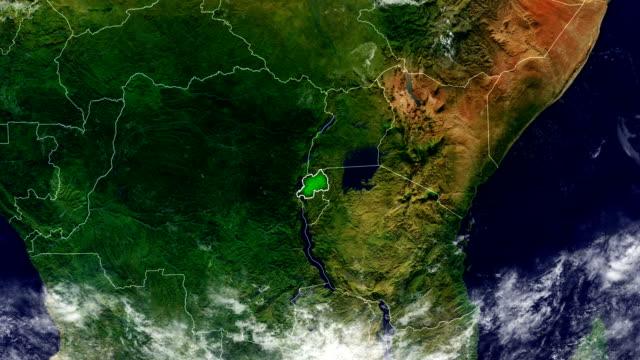ルワンダ地図 - ルワンダ点の映像素材/bロール