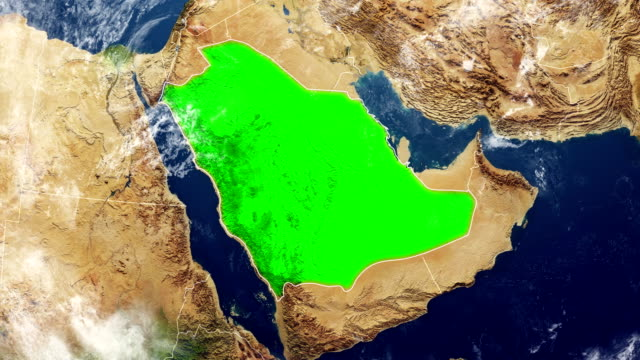 saudi arabia map - saudi arabia stock videos and b-roll footage