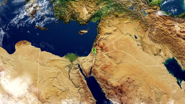 palestine map - palestine stock videos and b-roll footage