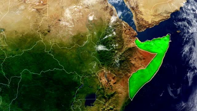 ソマリア地図 - ソマリア点の映像素材/bロール