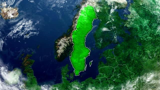 schweden karte - sweden stock-videos und b-roll-filmmaterial
