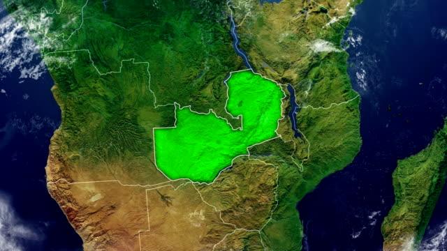 zambia map - zambia stock videos & royalty-free footage