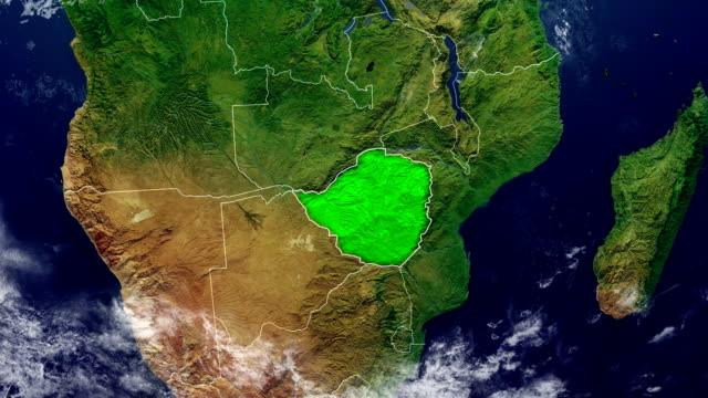 zimbabwe map - zimbabwe stock videos & royalty-free footage