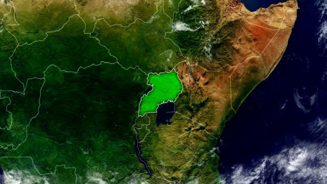 ウガンダ地図 - ウガンダ点の映像素材/bロール