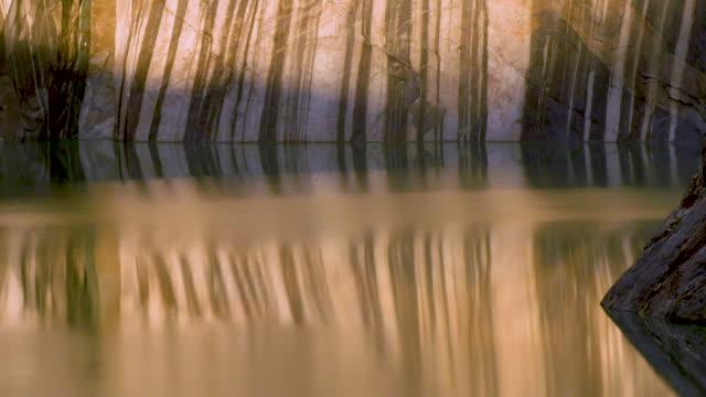 vídeos de stock, filmes e b-roll de patagonia. lake reflection - reflection