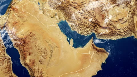 bahrain map - middle east stock videos & royalty-free footage