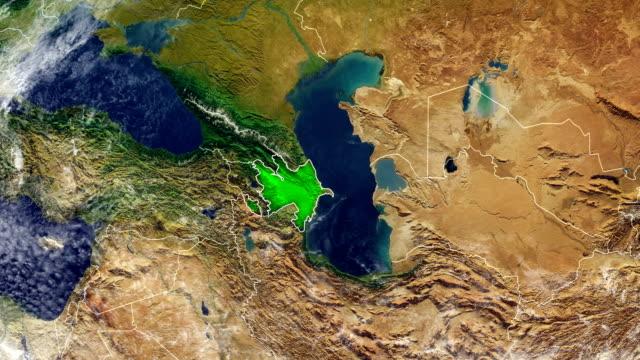 azerbaijan map - azerbaigian video stock e b–roll