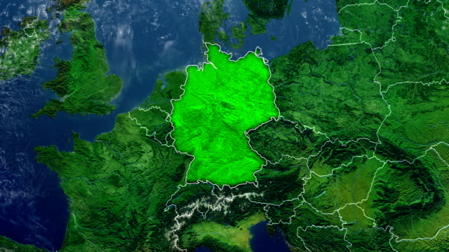 germany map - germany stock videos & royalty-free footage