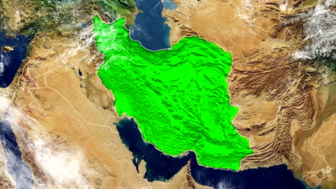 iran map - physical geography stock videos & royalty-free footage