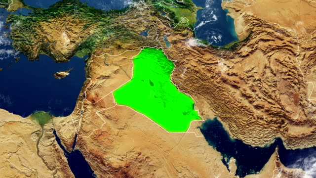 iraq map - iraq stock videos & royalty-free footage