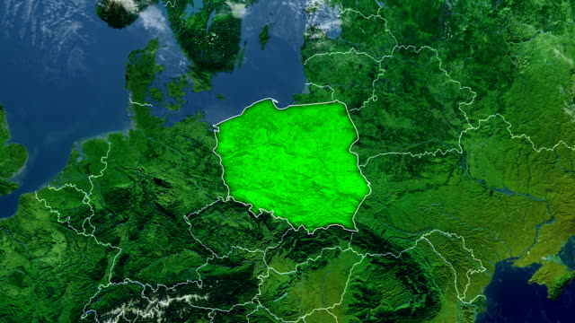 poland map - poland stock videos & royalty-free footage