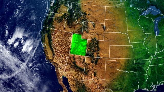 ユタ州の地図 - ユタ州点の映像素材/bロール