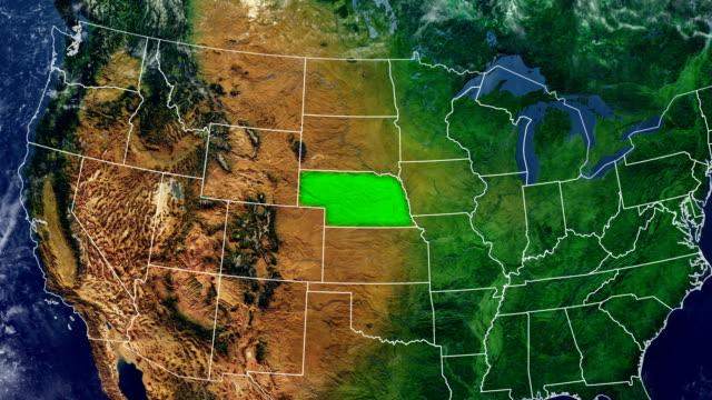 vídeos de stock, filmes e b-roll de mapa de nebraska - nebrasca