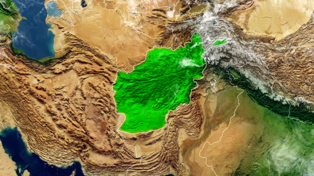 afghanistan map - afghanistan stock videos & royalty-free footage