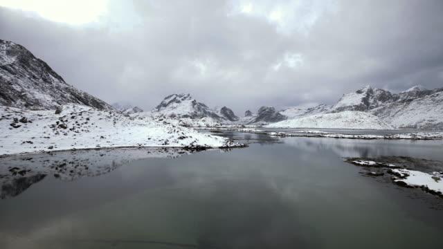 lofoten islands. lake panorama - aptenia stock-videos und b-roll-filmmaterial