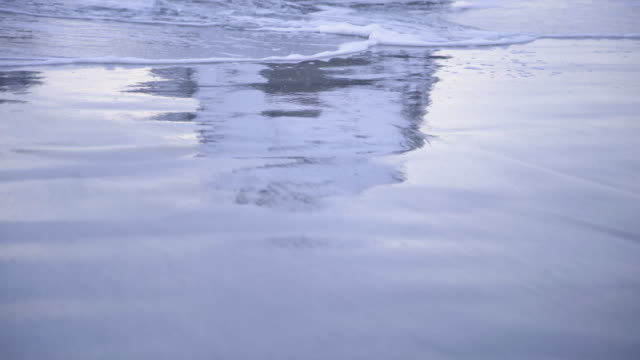lofoten islands. sea waves reflexion detail - aptenia stock-videos und b-roll-filmmaterial