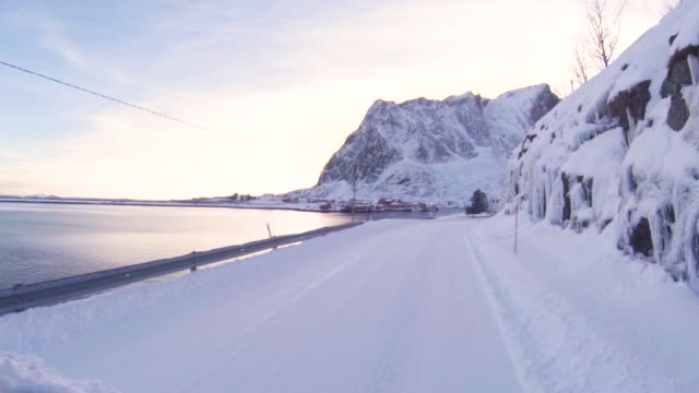 lofoten islands. car trip - aptenia stock-videos und b-roll-filmmaterial