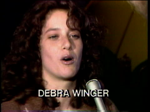 1980s cu debra winger being interviewed / los angeles california usa / audio - fame stock videos & royalty-free footage