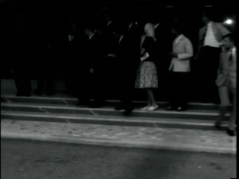 4oct1960 b/w montage brigitte bardot leaving hospital after suicide attempt / nice france - bodyguard stock videos & royalty-free footage