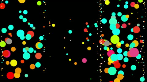bouncing dancing color dots - blob stock videos & royalty-free footage