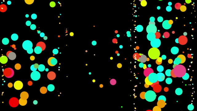 bouncing dancing color dots - bouncing stock videos & royalty-free footage
