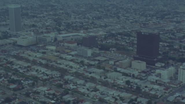 "aerial of century city. pan city to ""park la brea"" apartments. - beverly hills california stock videos & royalty-free footage"