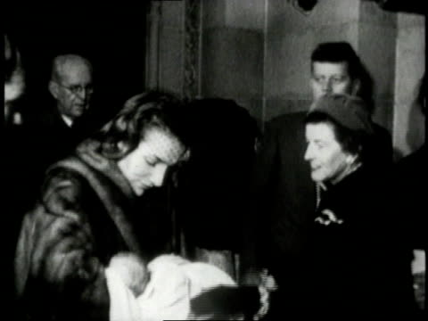 jacqueline kennedy holding baby caroline kennedy / united states - jacqueline kennedy stock videos and b-roll footage