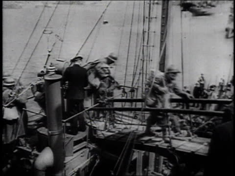 british expeditionary force evacuating france / dunkirk, france - 1940 stock videos & royalty-free footage