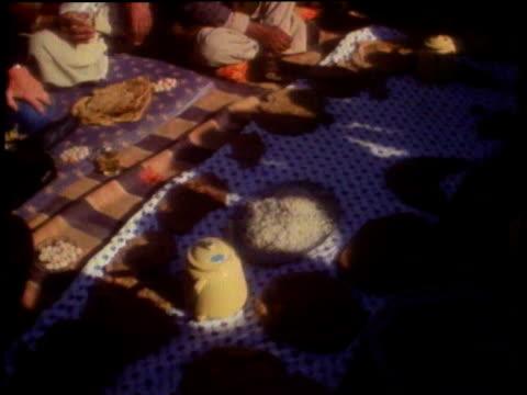 kirk douglas having thanksgiving prayer with group / peshawar, pakistan - kirk douglas actor stock videos & royalty-free footage