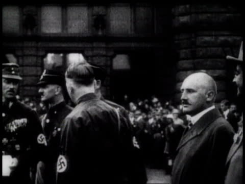 November 1923 MS Adolf Hitler and Nazis leading the Beer Hall Putsch / Germany