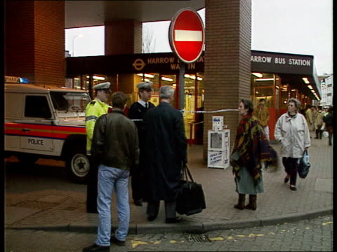 stockvideo's en b-roll-footage met firebomb attacks close entire london underground network ilford cms police cordon in front of stanstead shuttle train ms view down narrow platform... - table top view
